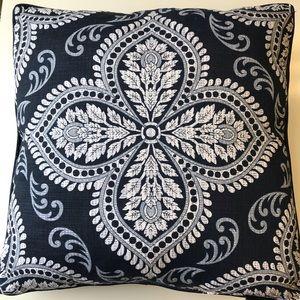 Envogue throw decorative pillows blue print